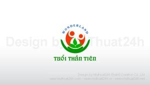 Thiết kế logo Trường mầm non Tuổi Thần Tiên