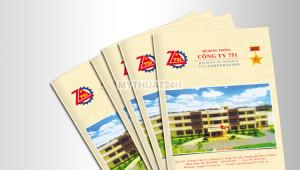 Thiết kế catalogue Z751 Bộ Quốc Phòng